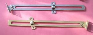 FRICTION Lid STAY, Toy/blanket Box, Coffer, Cupboard doors. BRASS/CHROME. 1 & 10pack